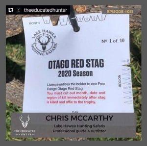Podcast: The Educated Hunter Episode #51 - Chris McCarthy - Lake Hawea Hunting Safaris